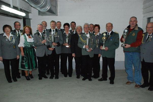 Die Sieger des Lengede-Pokal-Schießens 2015