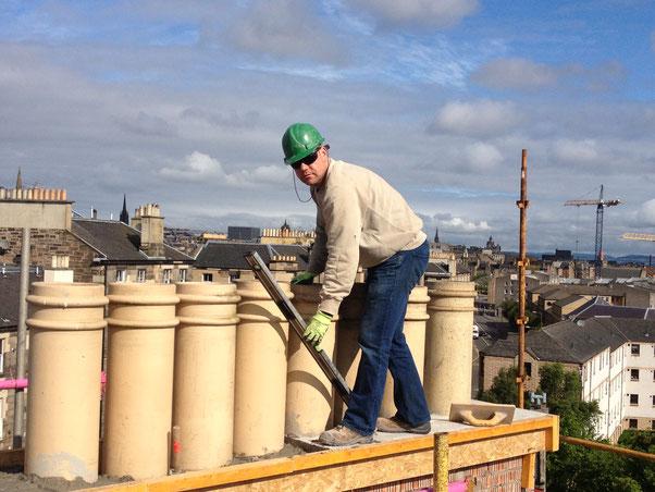 Working as a stonemason in Edinburgh