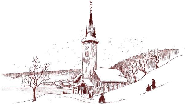 Nuit de Noël à l'église du Pont