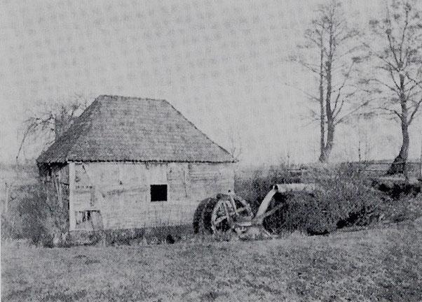 Die alte Ölmühle auf dem Sültehof kurz vor dem Verfall ( erstmals erwähnt 1555)