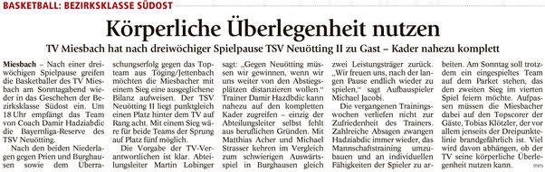 Artikel im Miesbacher Merkur am 12.11.2016 - Zum Vergrößern klicken
