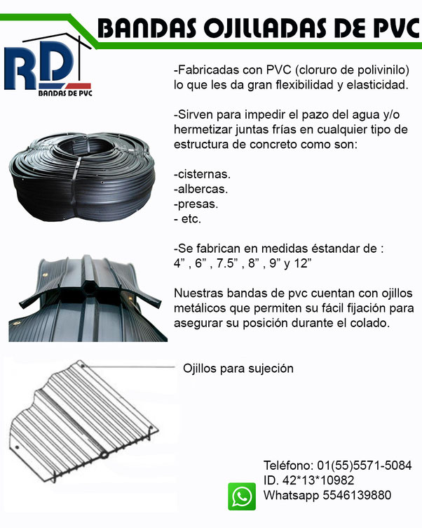 BANDA OJILLADA DE PVC