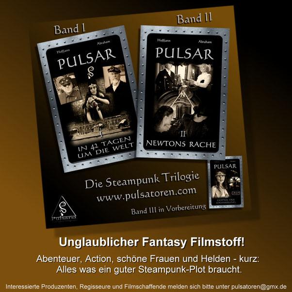 Pulsar, Schnell-Schiff, Steampunk Roman Trilogie, Filmwerbung, Promotion