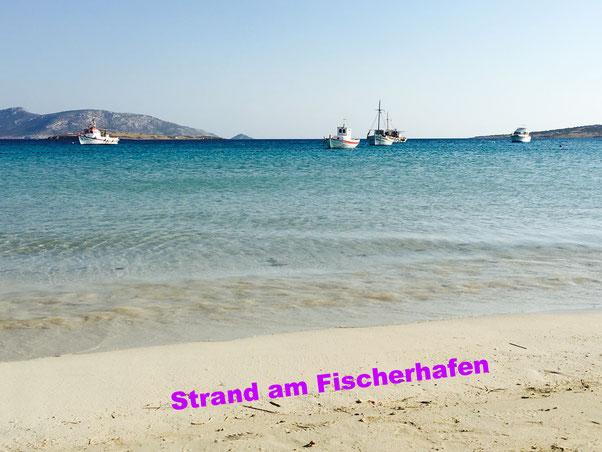 Strand von Koufonisia am Hafen.