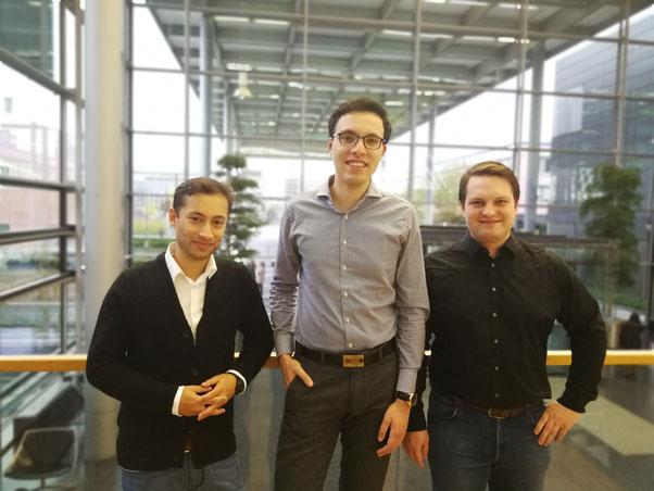 von links nach rechts: Stephan Schäfer, Kevin de Silva, Dhurjati Paul