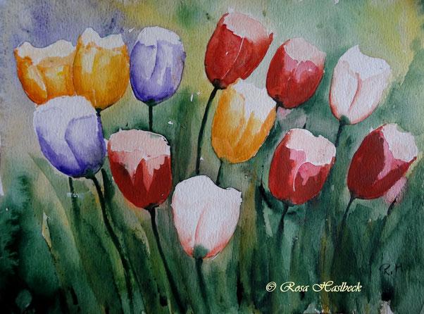 tulpenaquarell kaufen,aquarell kaufen, blumen, tulpen, blumenaquarell, tulpenaquarell, malen, kunst kaufen, bild, dekoration, geschenkidee