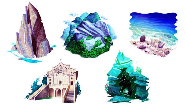 Illustrazioni Locations Barbara Petris