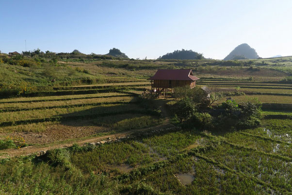 Maison sur pilotis de la région de Mai Chau
