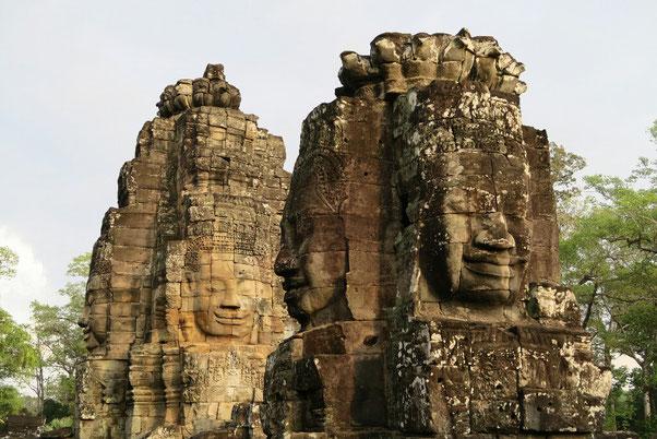 Les visages de Bouddha du Bayon