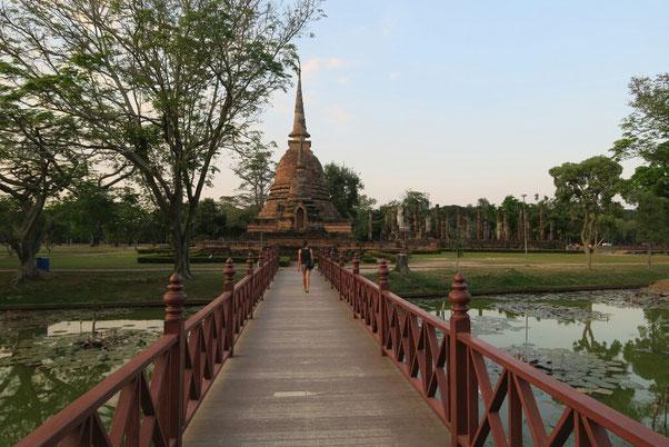 Fin de journée à Sukhothai