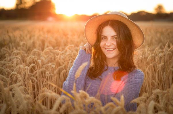 Deze foto maakte ik tijdens het gouden uurtje! Prachtig hoe de zon mijn model omringt!