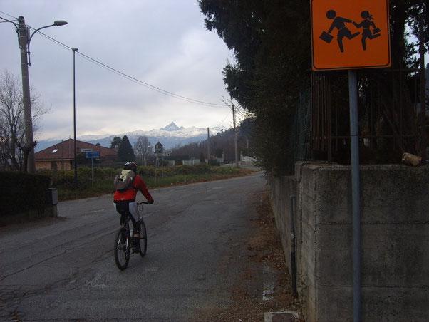 al termine del giro, affrontiamo gli ultimi strappi passando dalla collina di Piossasco per aumentare l'ascesa totale.