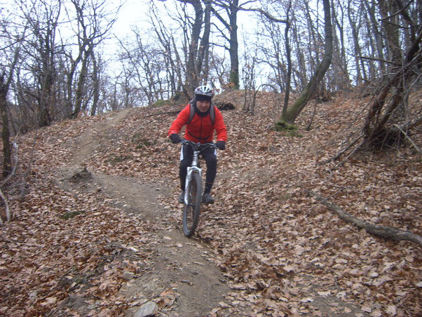 in parte il sentiero è assai visibile nonostante il periodo..sintomo di svariati passaggi di bikers..