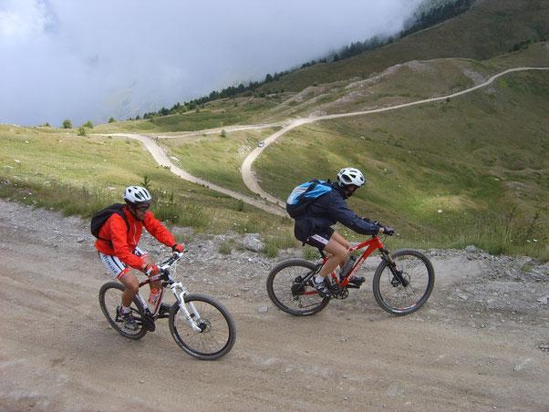 qui... una delle salite più impegnative della giornata per raggiungere il Mont Genevris
