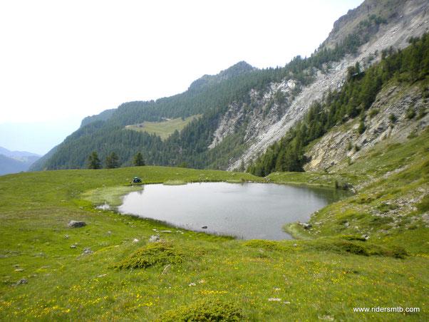 giunti a Cortinaz il panorama inizia ad essere più interessante
