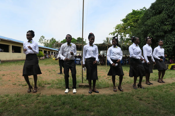 Zeugnisverleihung der Lehrlinge in Kpalimé