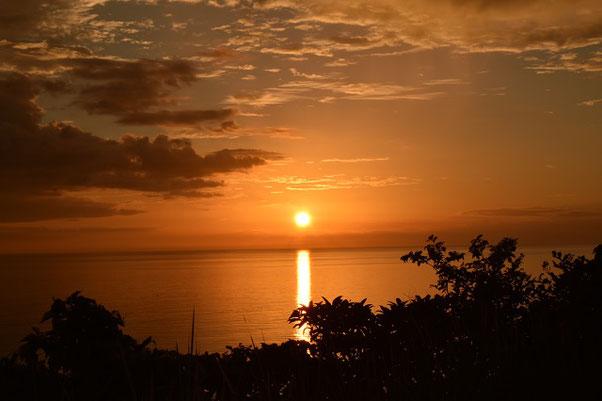 十三仏公園からの夕日 。絶景です!
