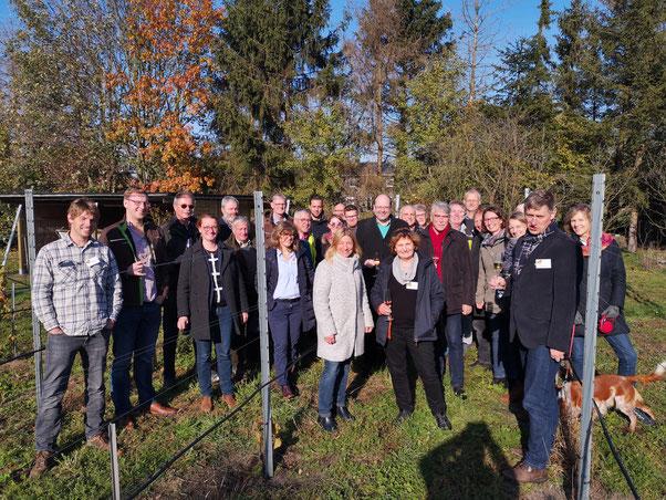 Niedersächsische Weinerzeuger am Tage der Gründungsversammlung im Oktober 2019