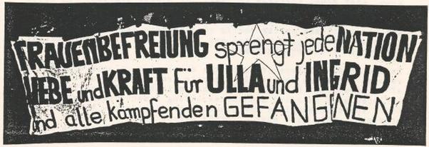 Essen, d. 11. 02. 1989: ca. 10.000 autonome  deltog i  en solidaritetsdemo med Ingrid Strobl og Ulla Penselin,  der var anklaget for medlemskab af Rote Zora
