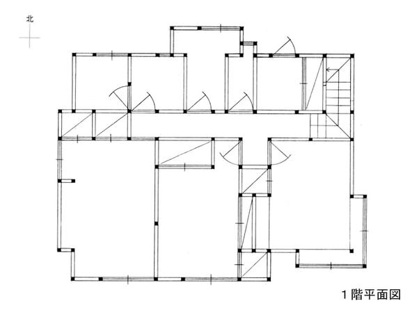 日本の住宅の平面図