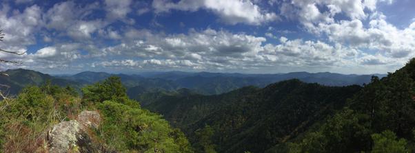 瑠璃山 山頂からのパノラマ