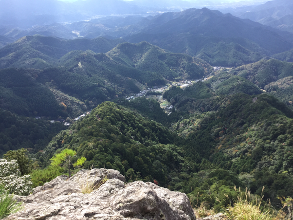 鳳来寺山 奥の院からの展望