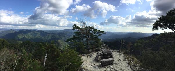 鳳来寺山 鷹打ち場展望台からのパノラマ