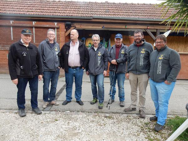 Hanspeter Wullschleger, Stefan Kopf, Heinz Wälti, Daniel Graf, Kurt Hildebrand, Beat Bolliger und Martin Buchmüller. Auf dem Bild fehlt Jörg Richner (v li n re)