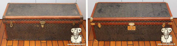 Goyard shoe trunk in goyardine canvas