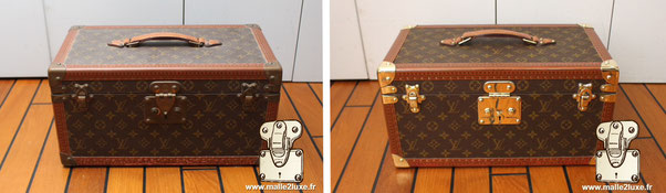 Removal of impurities on modern canvas PVC Louis vuitton pvc modern trunk suitcase l. vuitton