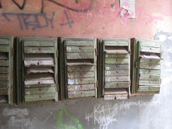 verwahrloste Briefkästen in Odessa