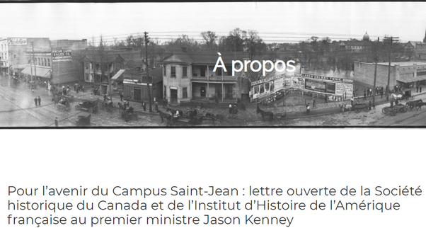 Organizations representative of Canadian historians fight to help the Campus Saint-Jean (May 22nd open letter).