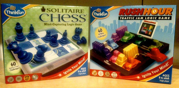 Solitaire Chess and RushHour/Thinkfun