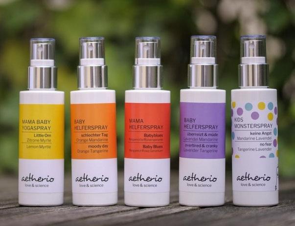 Aromatherapie Helfersprays für Baby und Mama mit ätherischen Ölen