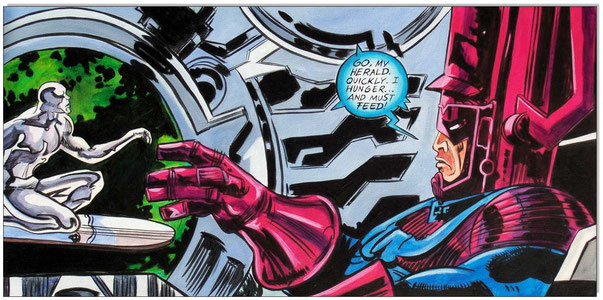 The Silver Age of Comic Book Art: Silver Surfer- Galactus