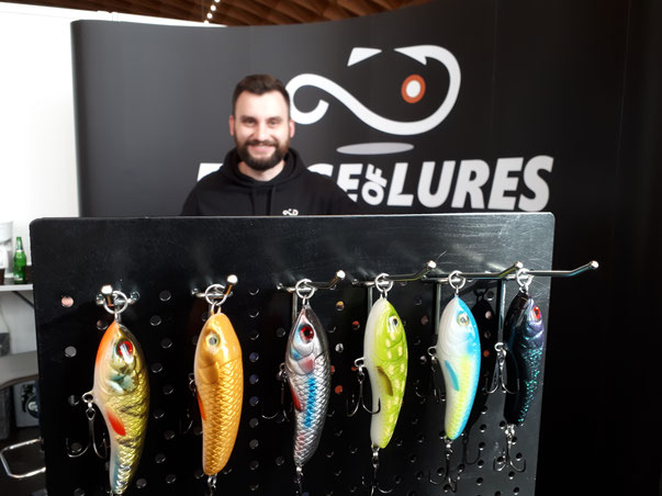 Jerkbaits am Messestand