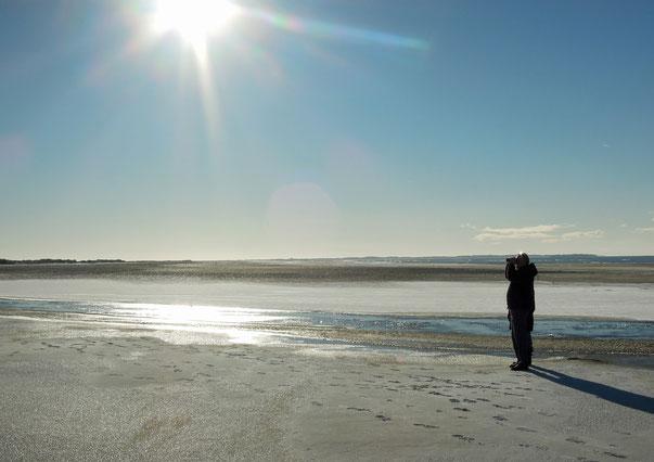 Was für Ausblicke! Sonniger Wintertag am Strand von Lakolk auf Rømø. Foto: C. Schumann, 2016