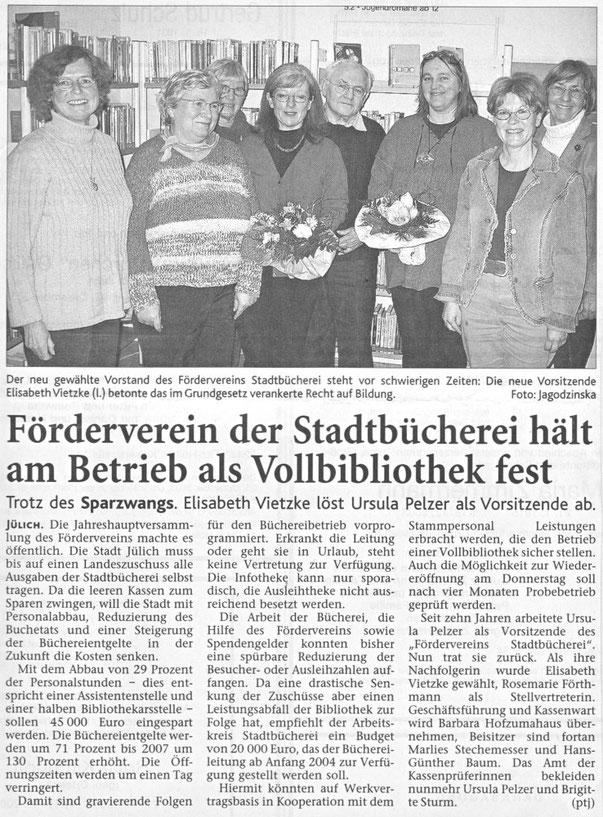 Jülicher Nachrichten vom 20.12.2003