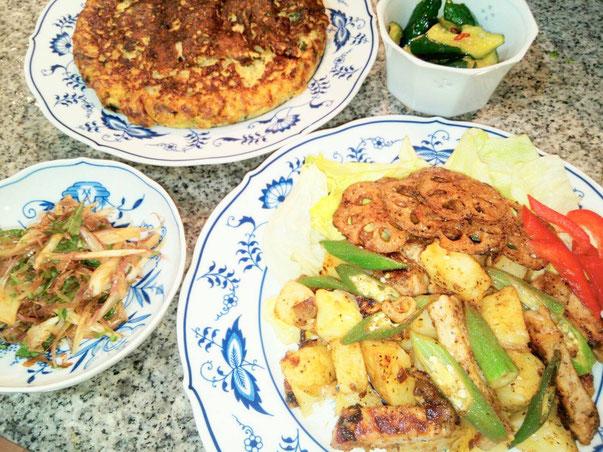 大阪兵庫で家政婦・家事代行サービスで食事作り夕食はジャガイモのレモンバター炒め