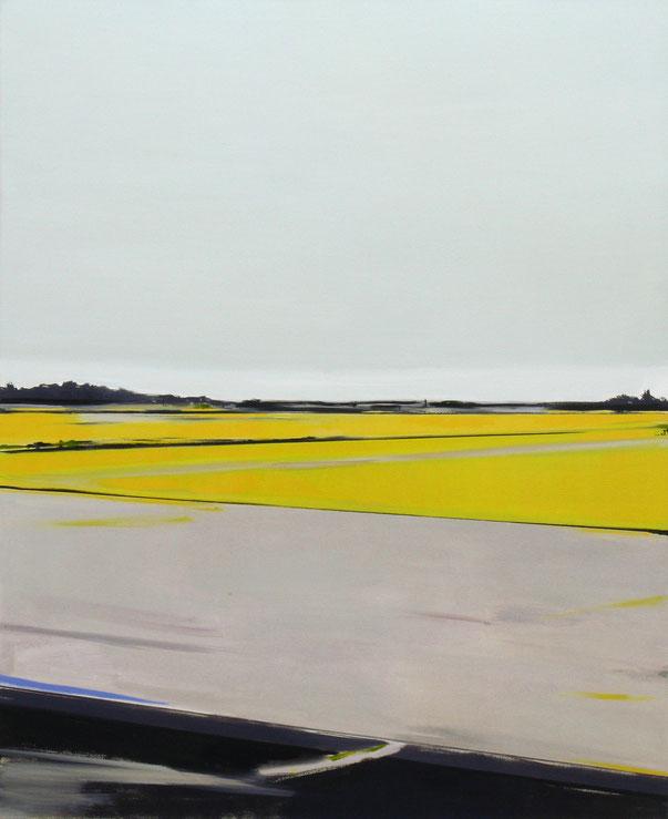 Matthieu van Riel. Schilderij. Hollands landschap 135x110cm olie op canvas 2011