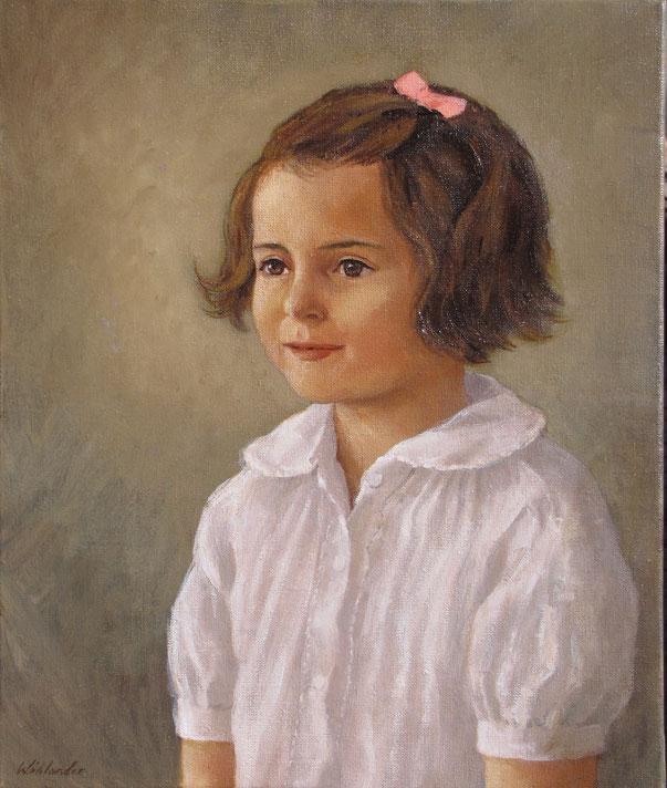 Tony Wahlander (Wåhlander) peint aussi de nombreux portraits, ici celui d'une petite fille