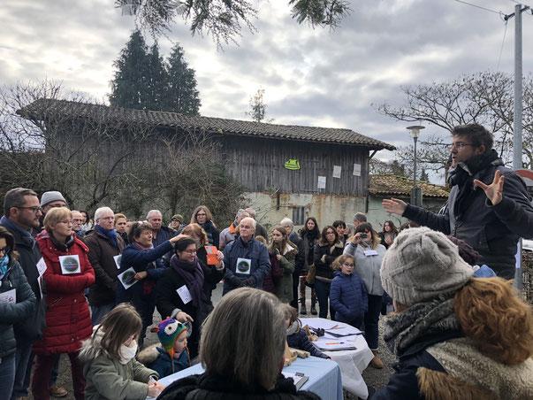 Le 12 janvier dernier, collectif et parents d'élèves s'étaient rassemblés devant l'école d'Haureuils.