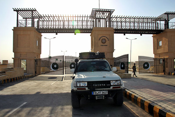 Grenzübergang Iran nach Pakistan