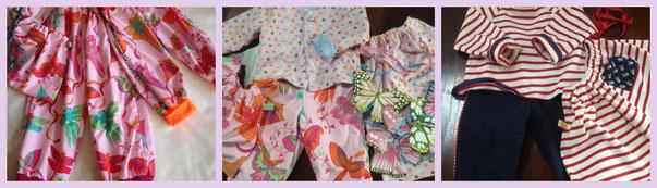les petits ensembles : bébé pirate et bébé papillon