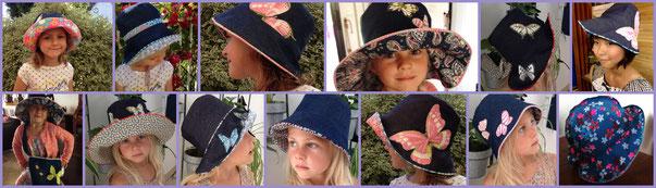 les petits chapeaux de Margaux et Chloé.