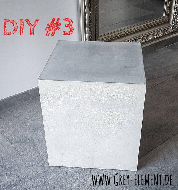 Beistelltisch Kubus Aus Beton Selber Machen Betonmöbel Einfach