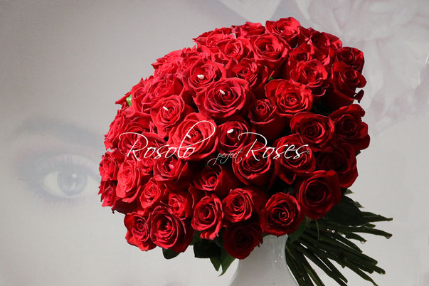 Beau bouquet de roses rouges, dès CHF 150.