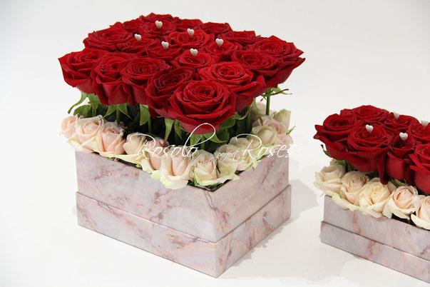 Boites de roses, dès CHF 150.