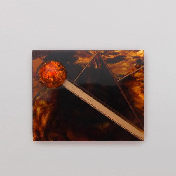Янтарь, янтарь формованный, бронза, дерево
