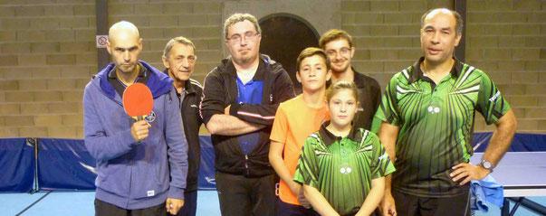 Gabriel, Michel et Fabien contre Alexis, Charlyne, Anthony et Pierre